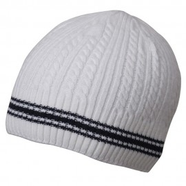 New Cable Beanie-White