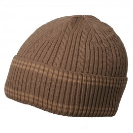 New Cable Cuff Beanie-Khaki Khaki