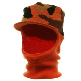 Ski Masks-Orange Camo