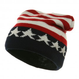 Printed Beanie USA Flag