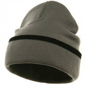 Color Trim Long Beanie