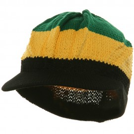 Cool Running Rasta Beanie Visor-Green Yellow Black