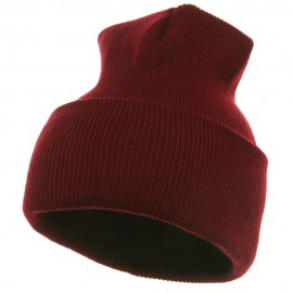 Long Beanie-Burgundy