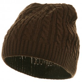 Twister Skully Beanie - Brown
