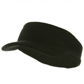 Knitting Band Visor-Black