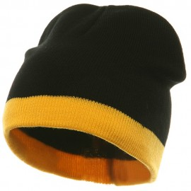 Fine Guage Two Tone Knitting Cap