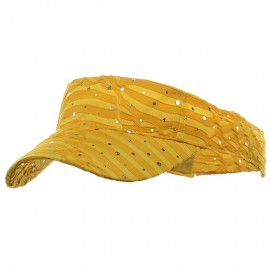 Glitter Visor- Yellow
