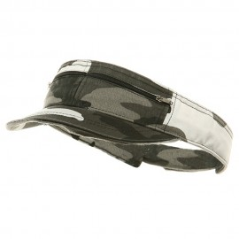 Enzyme Washed Cotton Twill Visor-City Camo