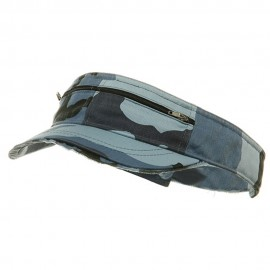 Enzyme Washed Cotton Twill Visor-Sky Camo