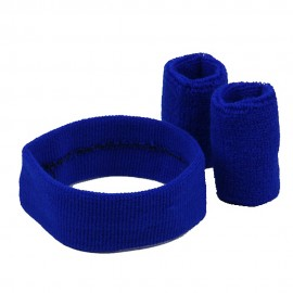Solid Color Head and Wrist Band Set