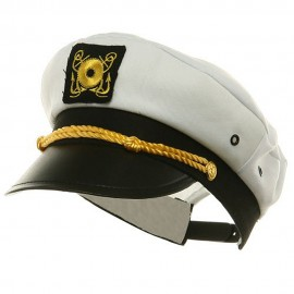 Adjustable Child Yacht Caps-White