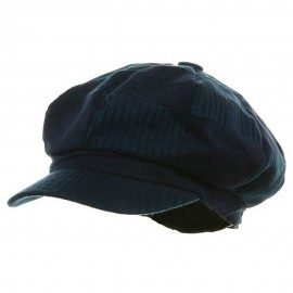 Suede Corduroy Checker Newsboy Cap