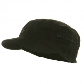 Canvas Army Fitted Cap - Black