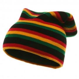 Rasta Long Beanies-Black RGY