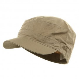 Fitted Cotton Ripstop Army Cap-Khaki
