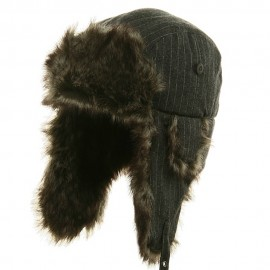Big Size Wool Pinstripe Trooper Hat