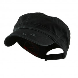 Enzyme Frayed Solid Army Caps
