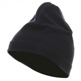 Polyester Lining Fleece Beanie - Navy