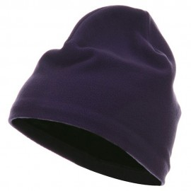 Polyester Lining Fleece Beanie - Purple
