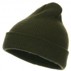 Toddler Knit Cuff Beanie - Olive