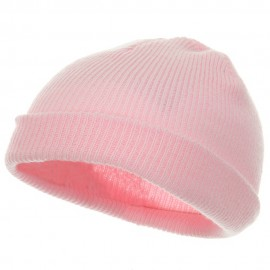 Infant Knit Cuff Beanie - Light Pink