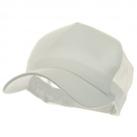 5 Panel Pet Spun Mesh Cap - White