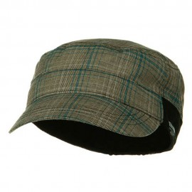 Fashion Plain Insulation Lining Army Cap