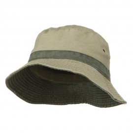 Big Size Reversible Bucket Hat - Khaki Green