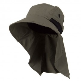 Moisture Management Large Bill Flap Cap - Olive