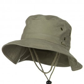 Youth Brushed Twill Aussi Bucket Hats