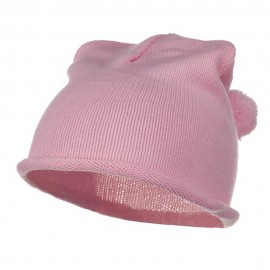 Children Knitting Hat - Light Pink