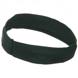 Stretchable Brushed Twill Hat Band - Dark Green