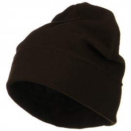 Big Size Fleece Beanie - Brown