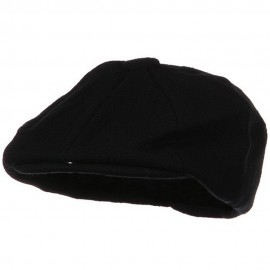 Big Wool Blend Newsboy Cap-Black