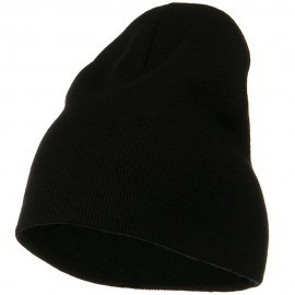 Big Size Superior Cotton Short Knit Beanie-Black