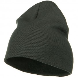 Big Size Superior Cotton Short Knit Beanie-Grey