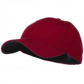 Low Profile Washed Flex Cap - Wine