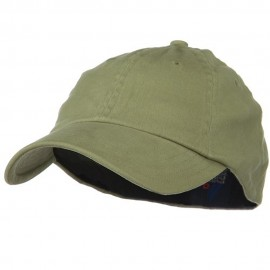 Light Brush Twill Fitted Cap - Khaki