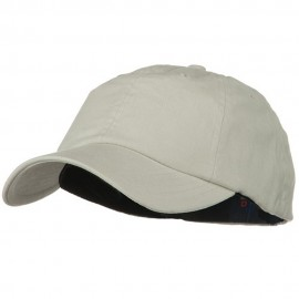 Light Brush Twill Fitted Cap - Stone