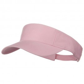 Pro Style Cotton Twill Washed Visor - Light Pink