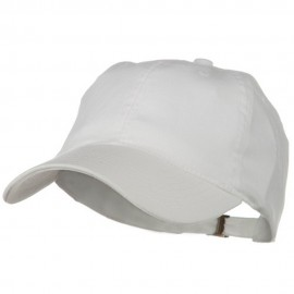 Low Profile Light Weight Brushed Cap - White