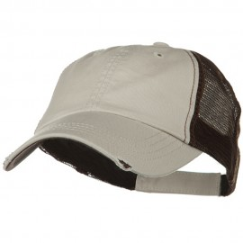 Washed Organic Cotton Mesh Cap - Putty Brown