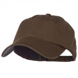 Low Profile Normal Dyed Cotton Cap - Brown