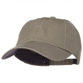 Low Profile Normal Dyed Cotton Cap - Khaki