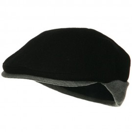 Warmer Flap Wool Ivy Cap - Black Grey