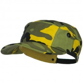 5 Panel Camouflage Twill Cap - Light Yellow