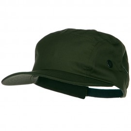 5 Panel Camouflage Twill Cap - Olive