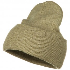 Stretch ECO Cotton Long Beanie - Khaki