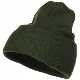 Stretch ECO Cotton Long Beanie - Olive