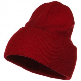 Stretch ECO Cotton Long Beanie - Red